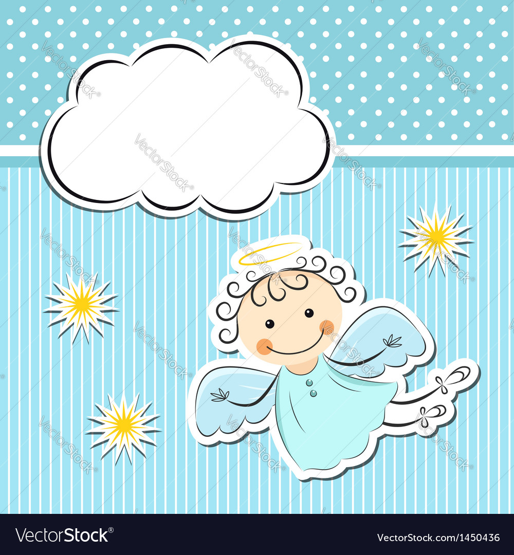 Little angel with stars and cloud vector | Price: 1 Credit (USD $1)