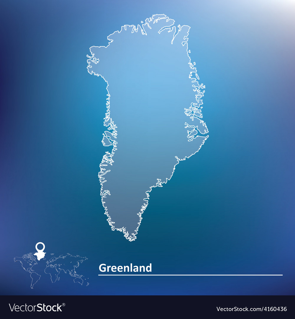 Map of greenland vector | Price: 1 Credit (USD $1)