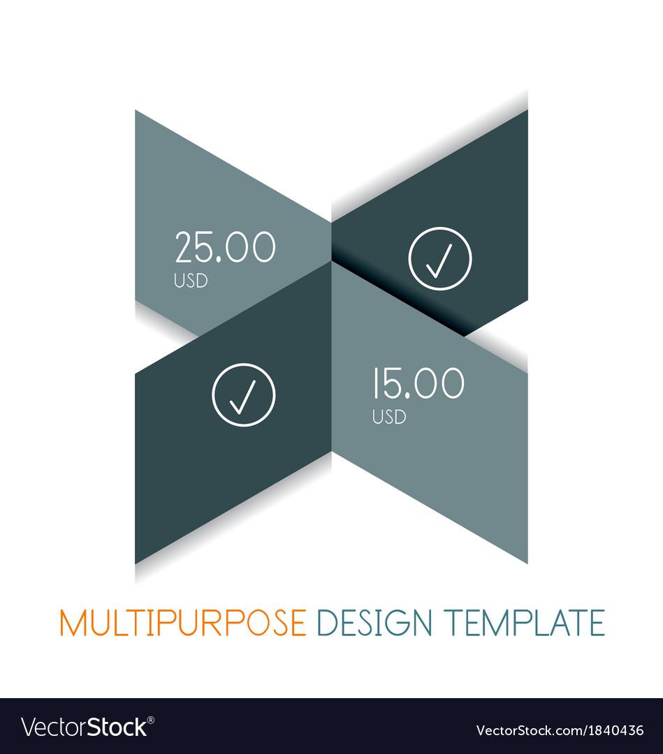Paper geometric shape multipurpose design template vector | Price: 1 Credit (USD $1)