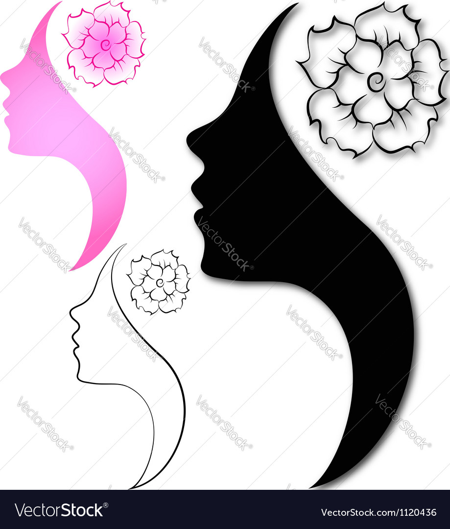 Profile girl vector | Price: 1 Credit (USD $1)