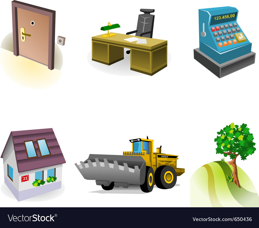 Real estate icon set vector | Price: 3 Credit (USD $3)