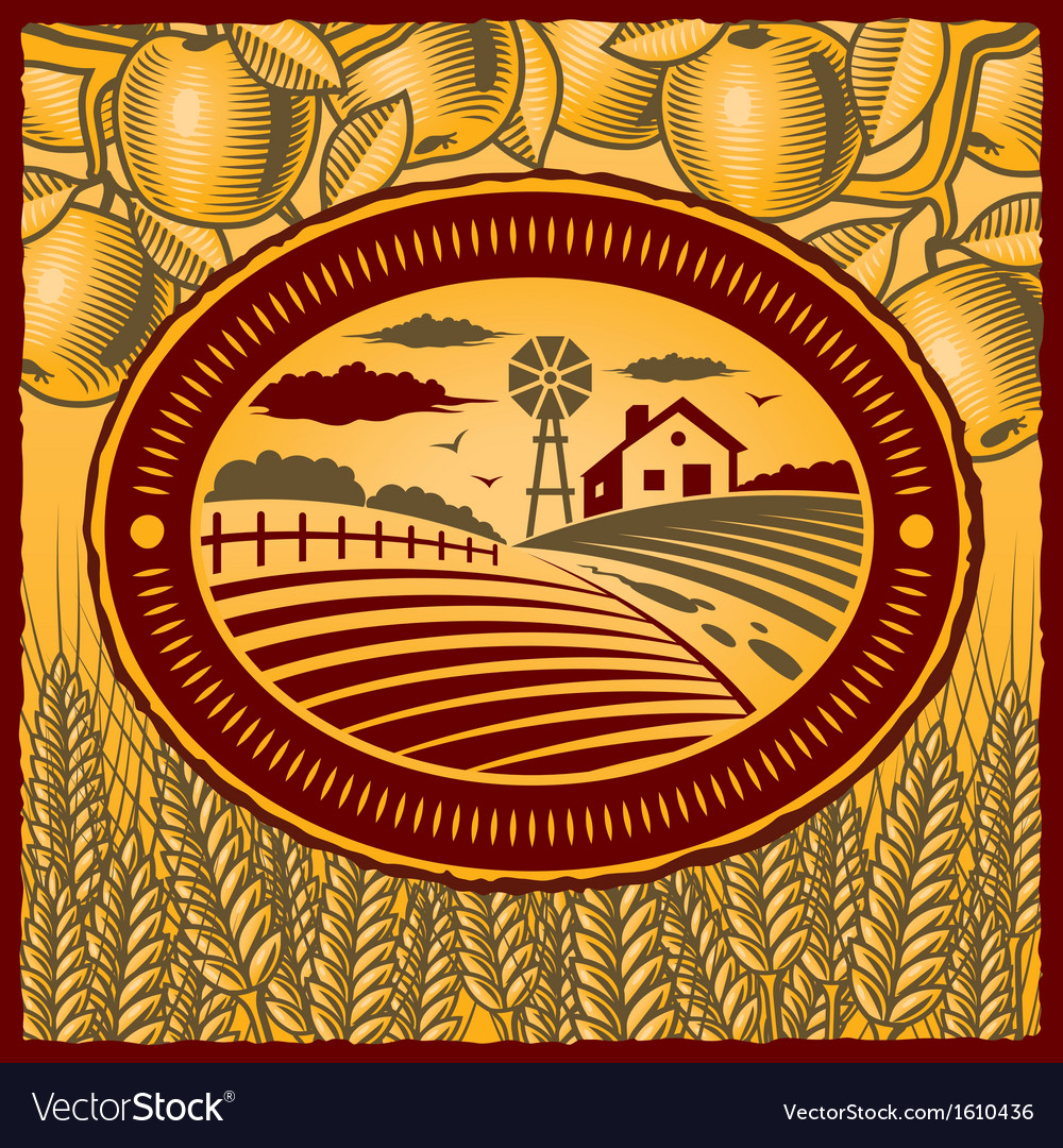 Retro farm vector | Price: 1 Credit (USD $1)