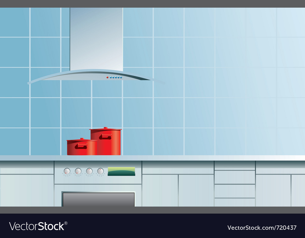 Blue kitchen vector | Price: 1 Credit (USD $1)
