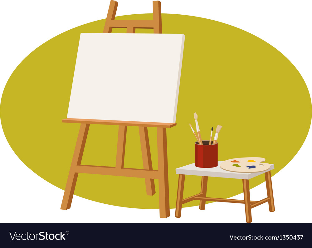 Canvas stand vector | Price: 1 Credit (USD $1)