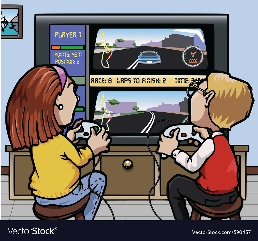 Car racing videogames vector | Price: 3 Credit (USD $3)