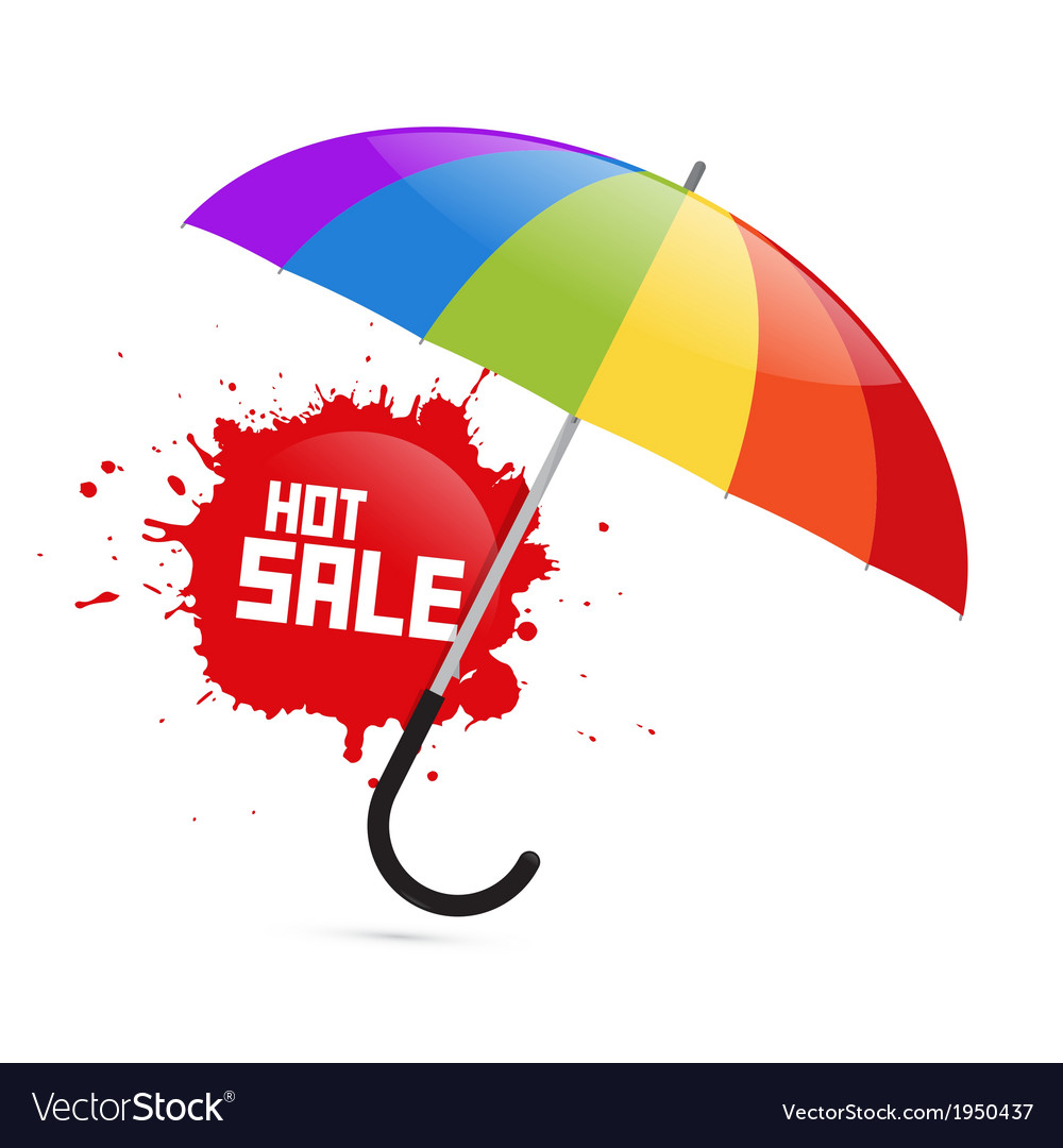 Colorful umbrella with hot sale splash vector | Price: 1 Credit (USD $1)