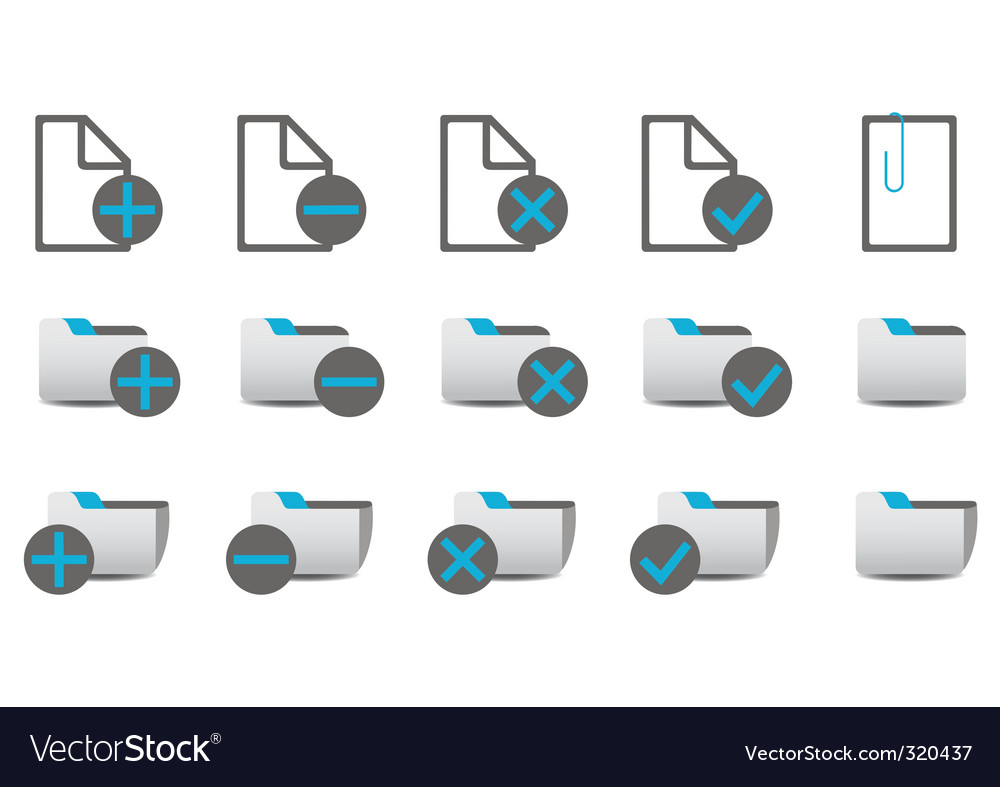 Database management icons vector | Price: 1 Credit (USD $1)