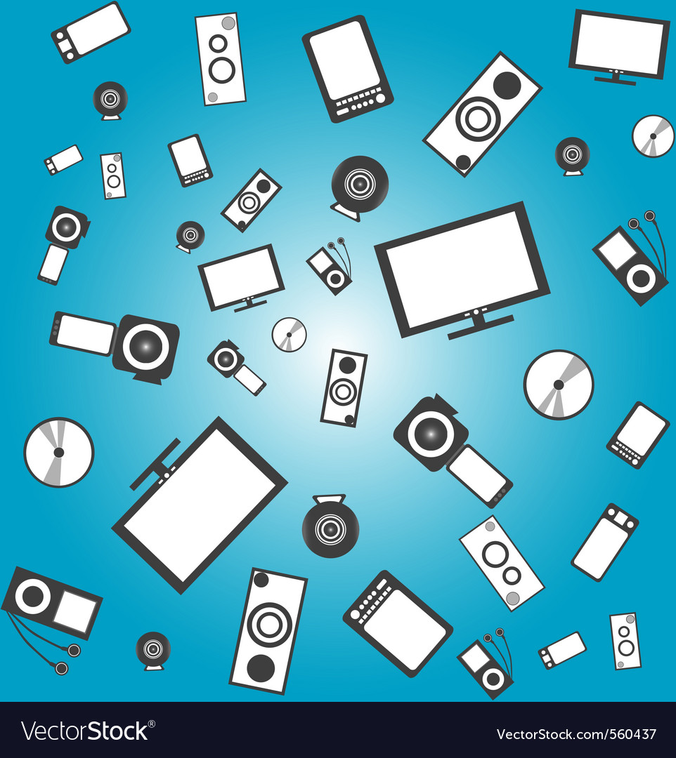 Electronic products vector | Price: 1 Credit (USD $1)