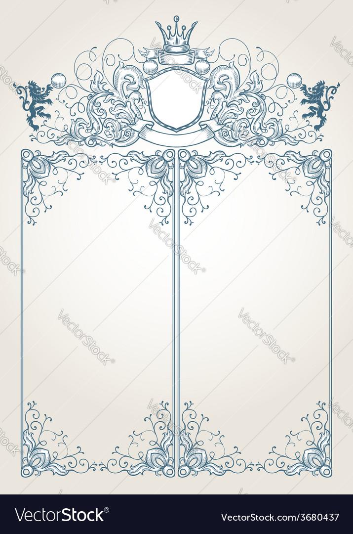 Menu template vintage frame vector | Price: 1 Credit (USD $1)