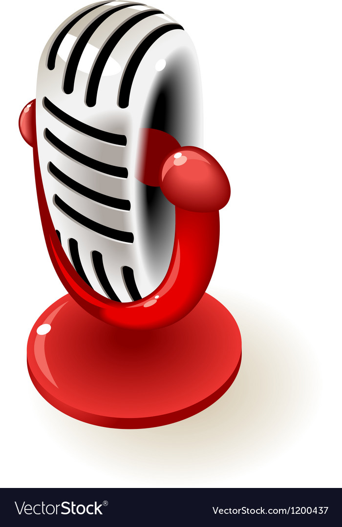 Retro microphone vector   Price: 1 Credit (USD $1)