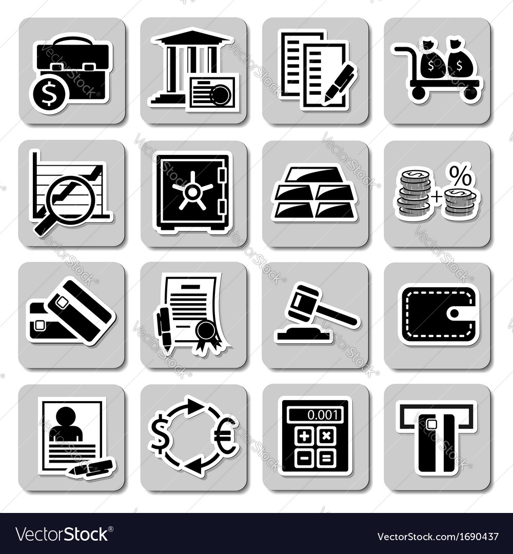 Set of banking icons vector | Price: 1 Credit (USD $1)