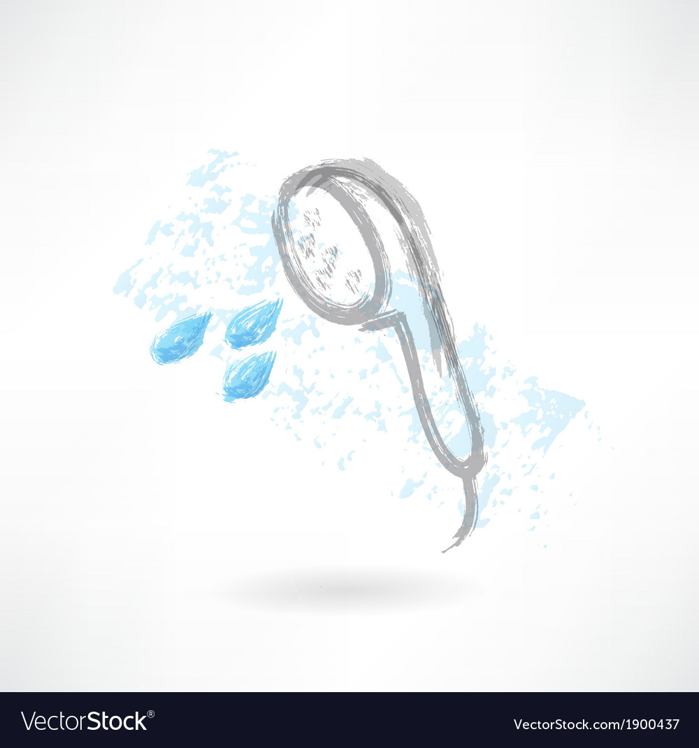 Shower bath grunge icon vector | Price: 1 Credit (USD $1)