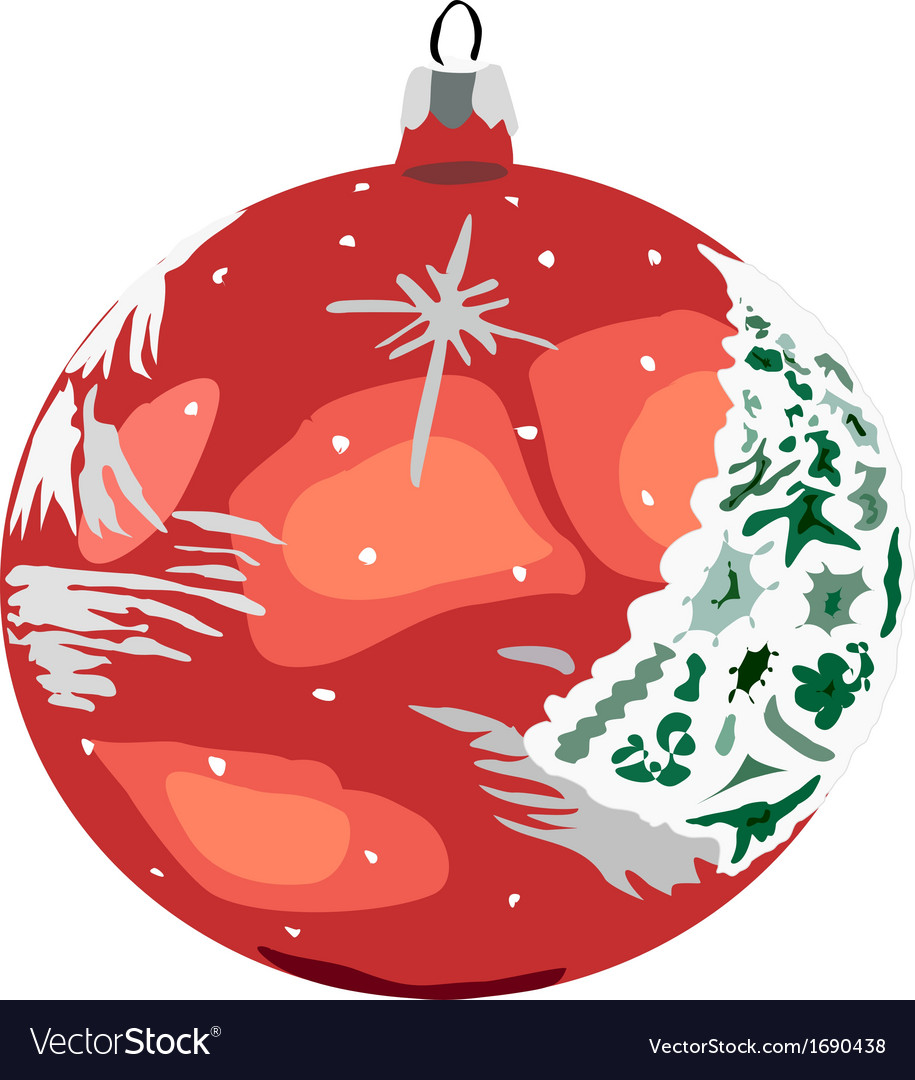 Bauble red vector | Price: 1 Credit (USD $1)