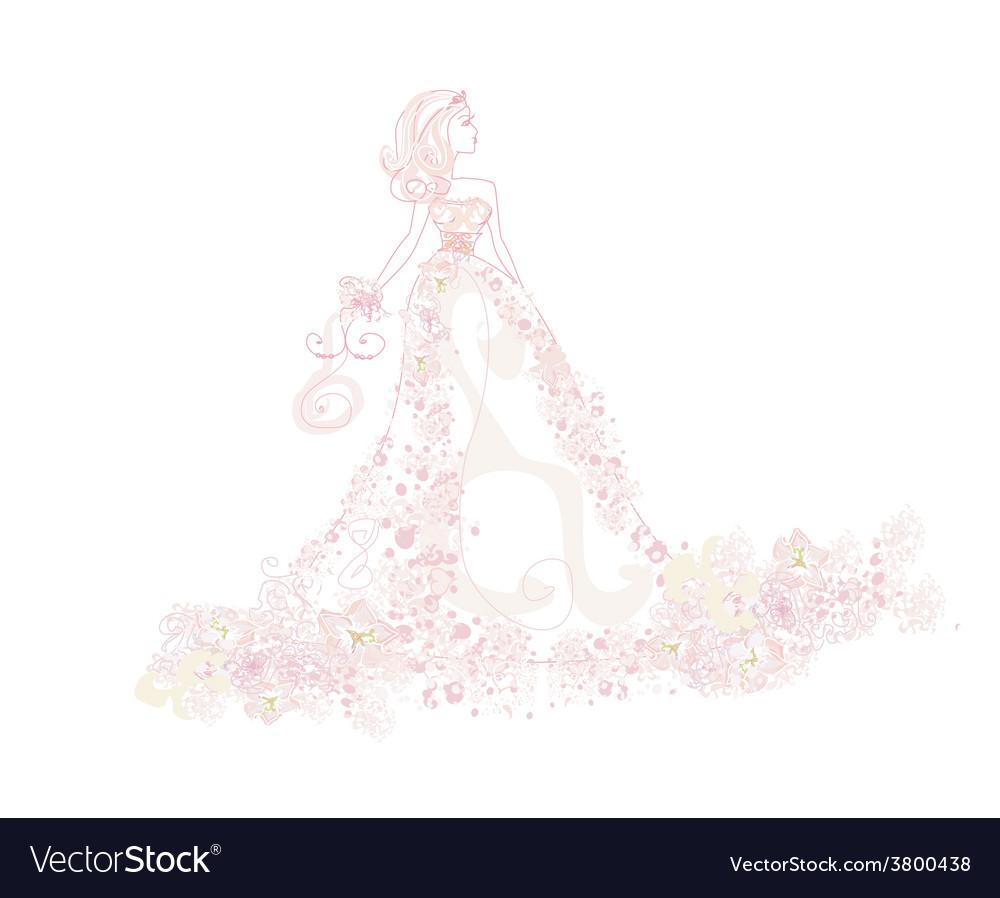 Beautiful abstract bride vector | Price: 1 Credit (USD $1)