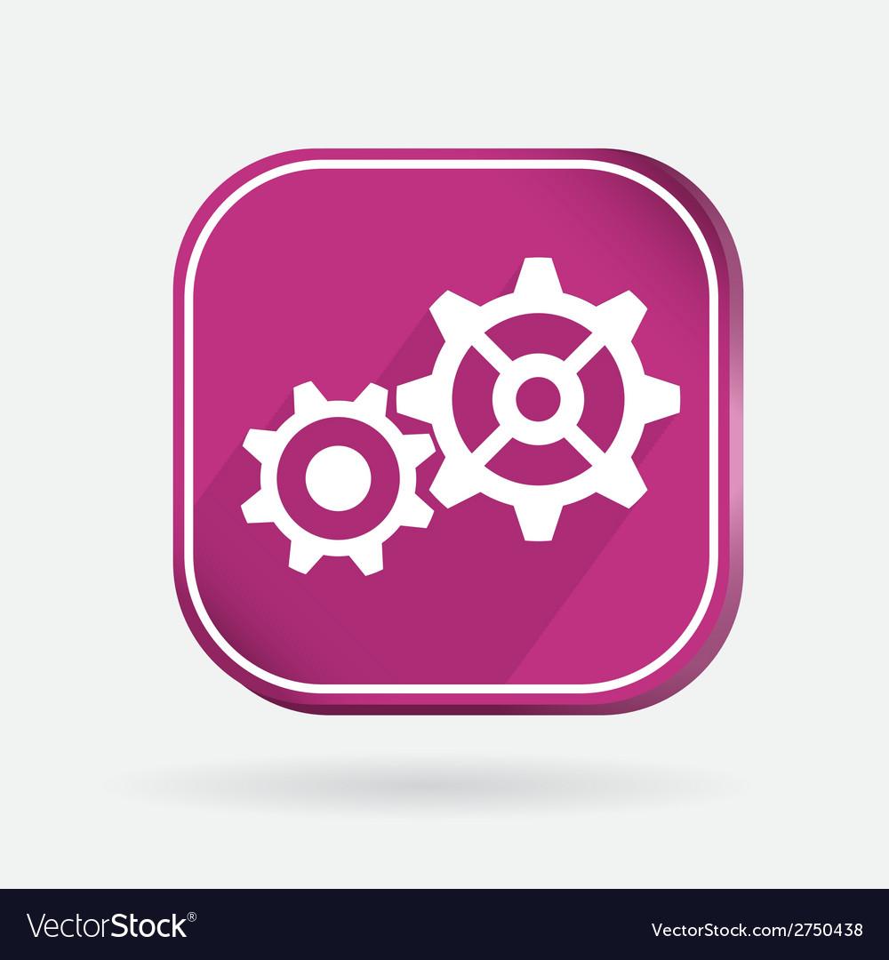 Color icon symbol settings cogwheel vector | Price: 1 Credit (USD $1)