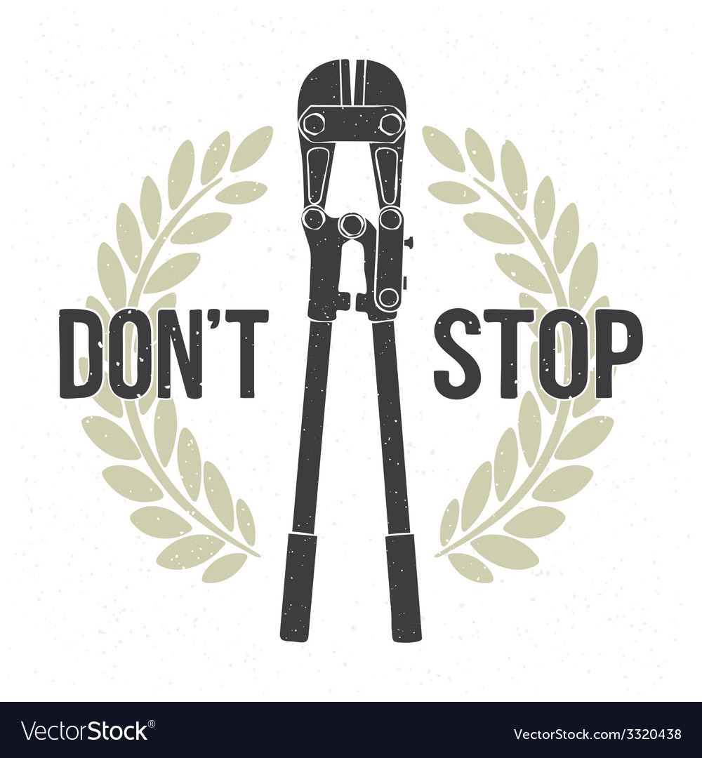 Dont stop vector | Price: 1 Credit (USD $1)