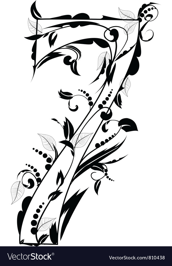 Foliage number 7 vector | Price: 1 Credit (USD $1)