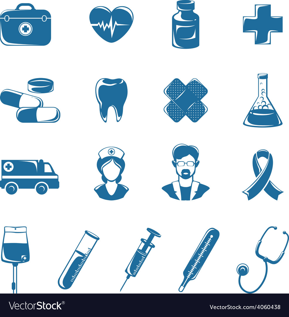 Medicine icons set vector | Price: 1 Credit (USD $1)