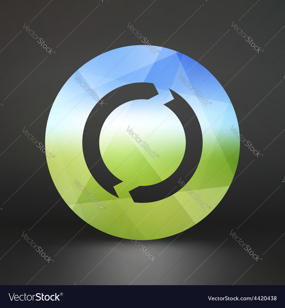 Recycle sign ecology icon vector