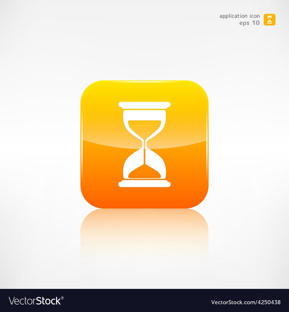 Sand clock icon glass timer symbol vector | Price: 1 Credit (USD $1)