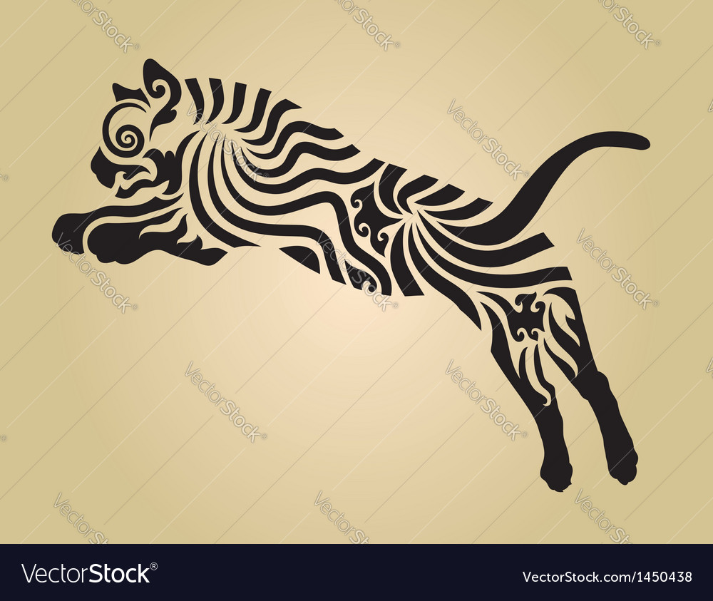 Tiger ornament decoration 4 vector | Price: 1 Credit (USD $1)