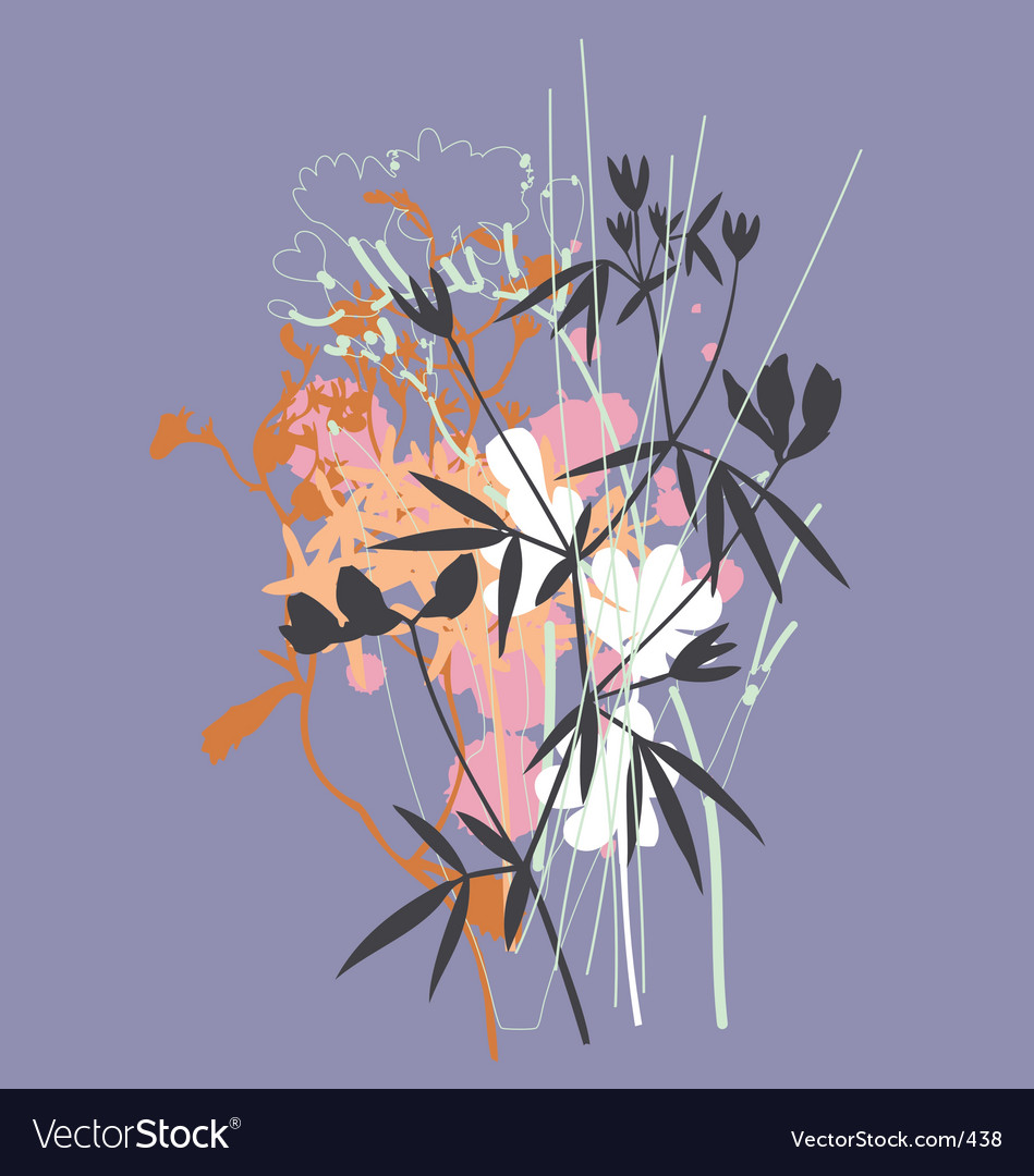 Wild flowers vector | Price: 3 Credit (USD $3)