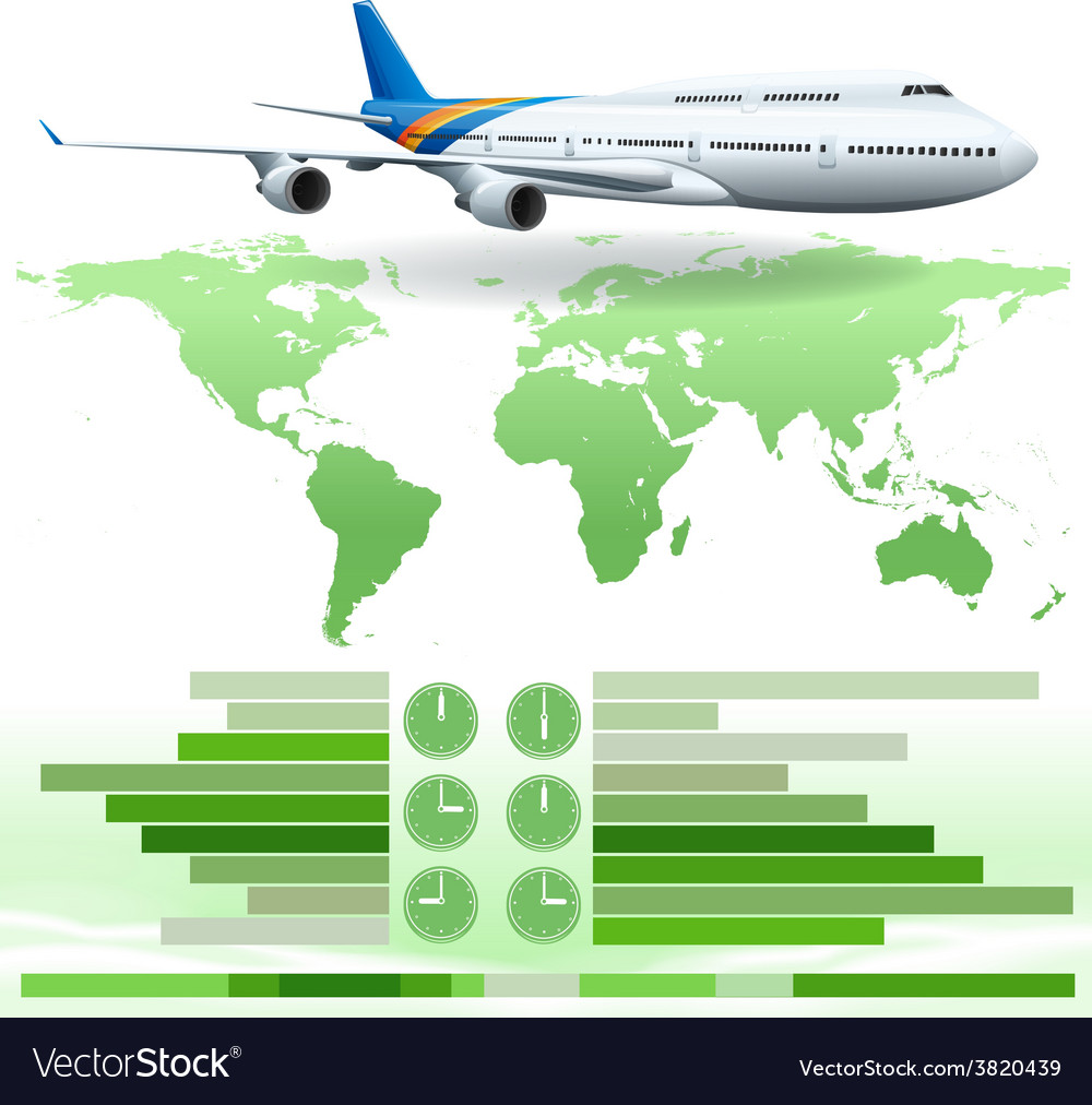 An infochart showing a plane vector | Price: 1 Credit (USD $1)