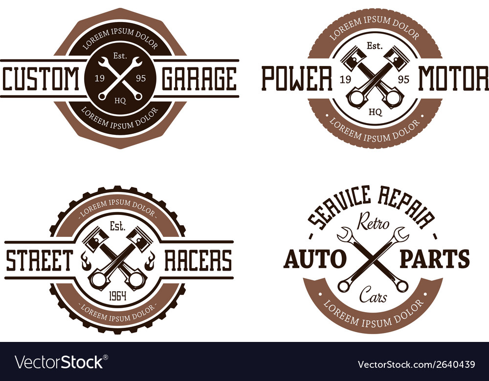 Auto emblems vector | Price: 1 Credit (USD $1)