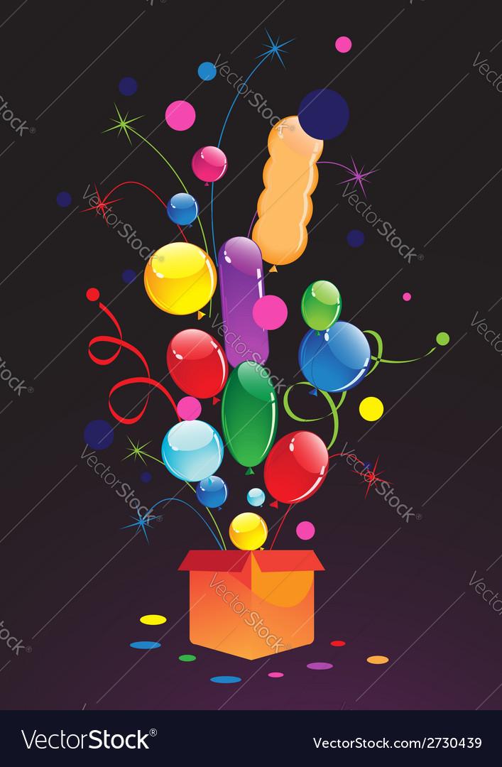 Celebratory balloons vector | Price: 1 Credit (USD $1)