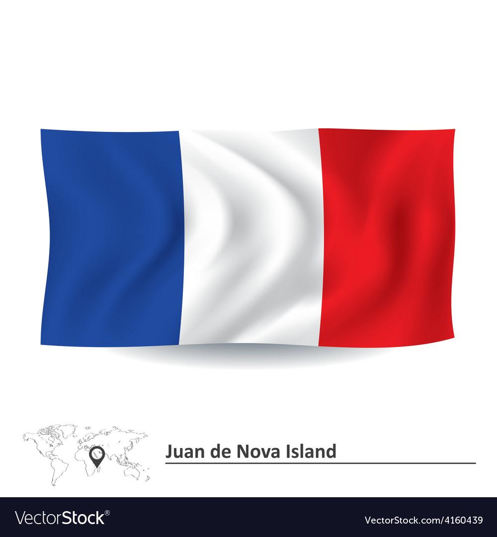 Flag of juan de nova island vector   Price: 1 Credit (USD $1)