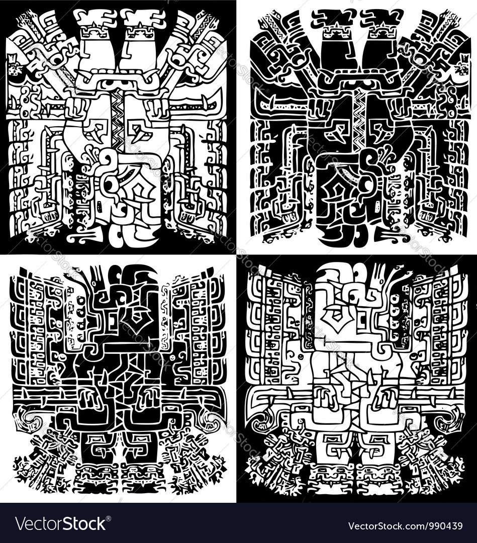 Inca iconography vector | Price: 1 Credit (USD $1)