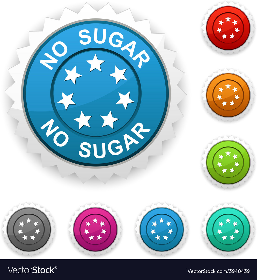 No sugar award vector | Price: 1 Credit (USD $1)