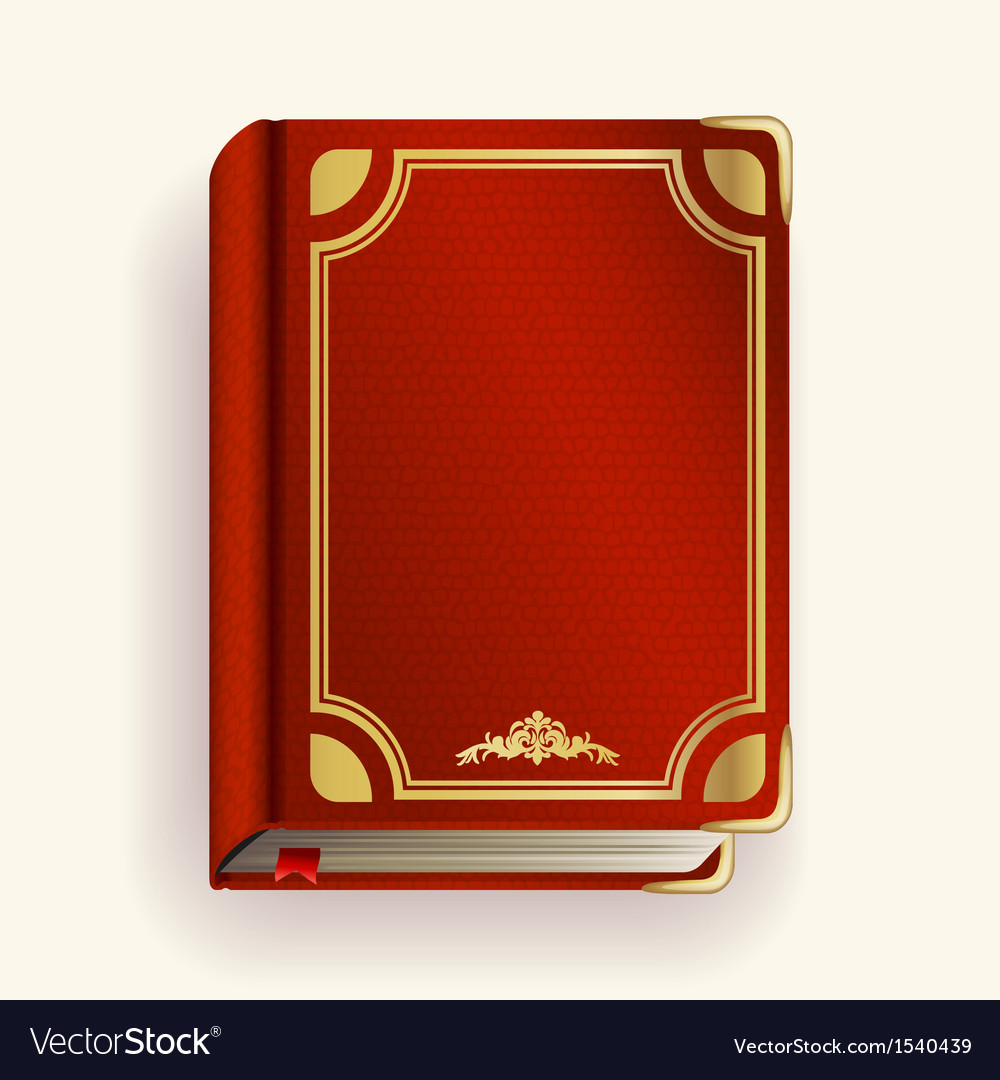 Red leather book vector | Price: 1 Credit (USD $1)