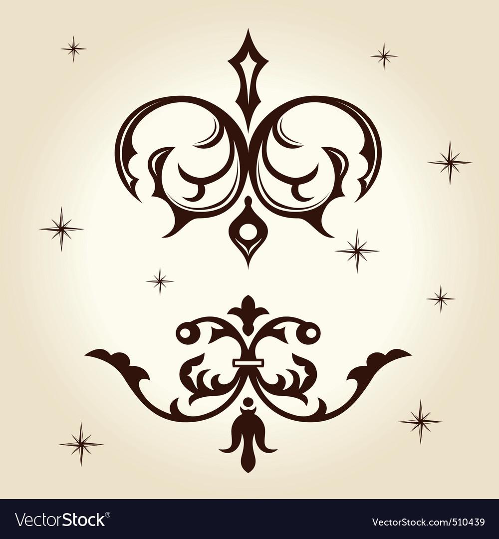 Retro ornament calligraph vector | Price: 1 Credit (USD $1)