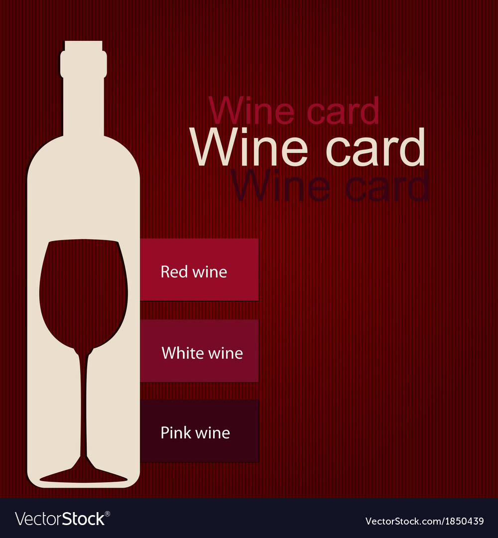 Template of a wine card vector | Price: 1 Credit (USD $1)