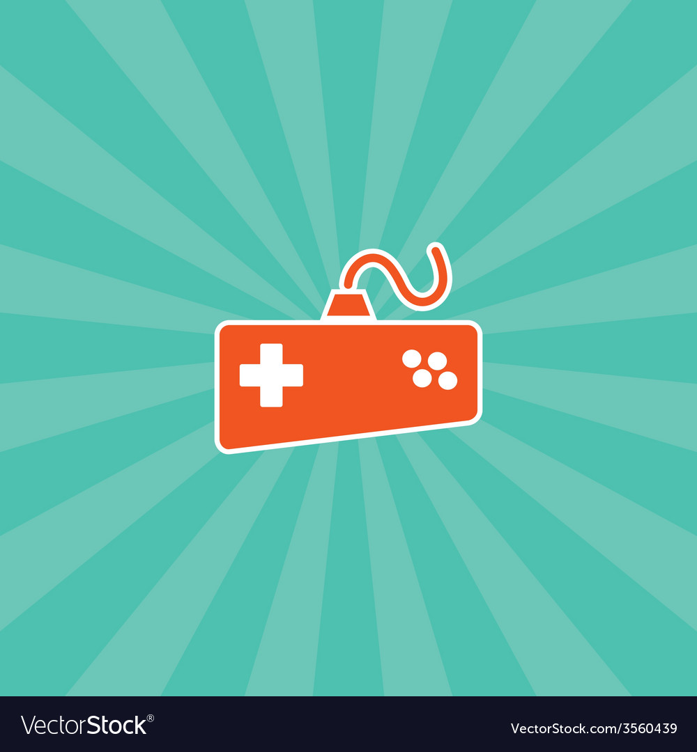 Video game console theme vector | Price: 1 Credit (USD $1)