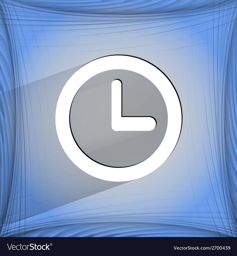 Watch flat modern web design on a flat geometric vector   Price: 1 Credit (USD $1)