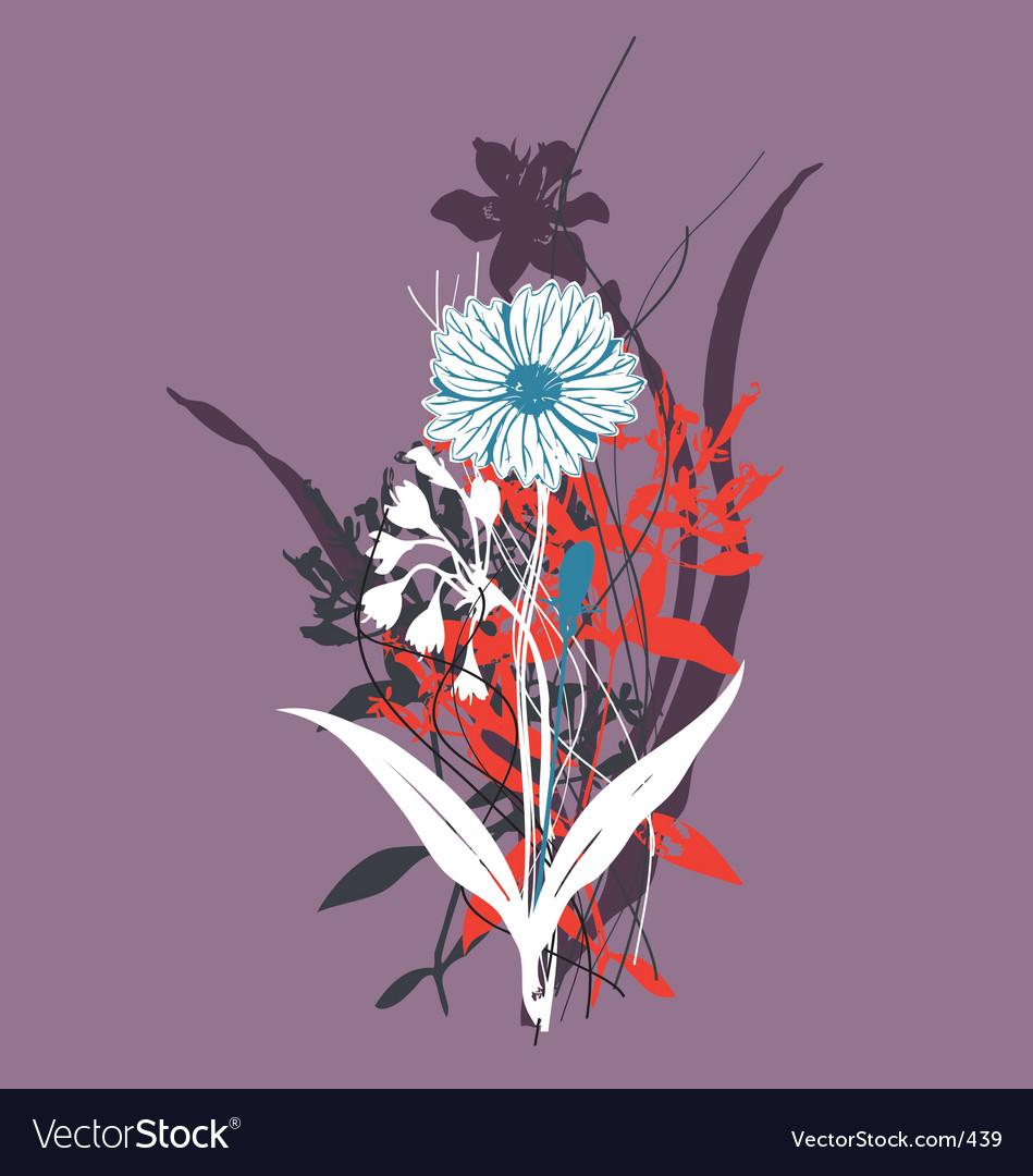 Wild flowers vector | Price: 1 Credit (USD $1)