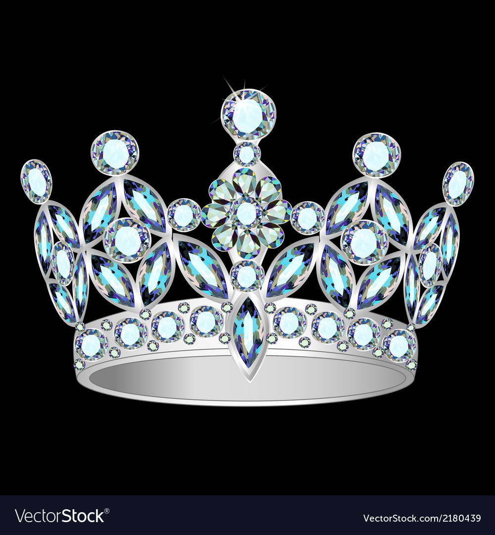 Women silver crown vector | Price: 1 Credit (USD $1)