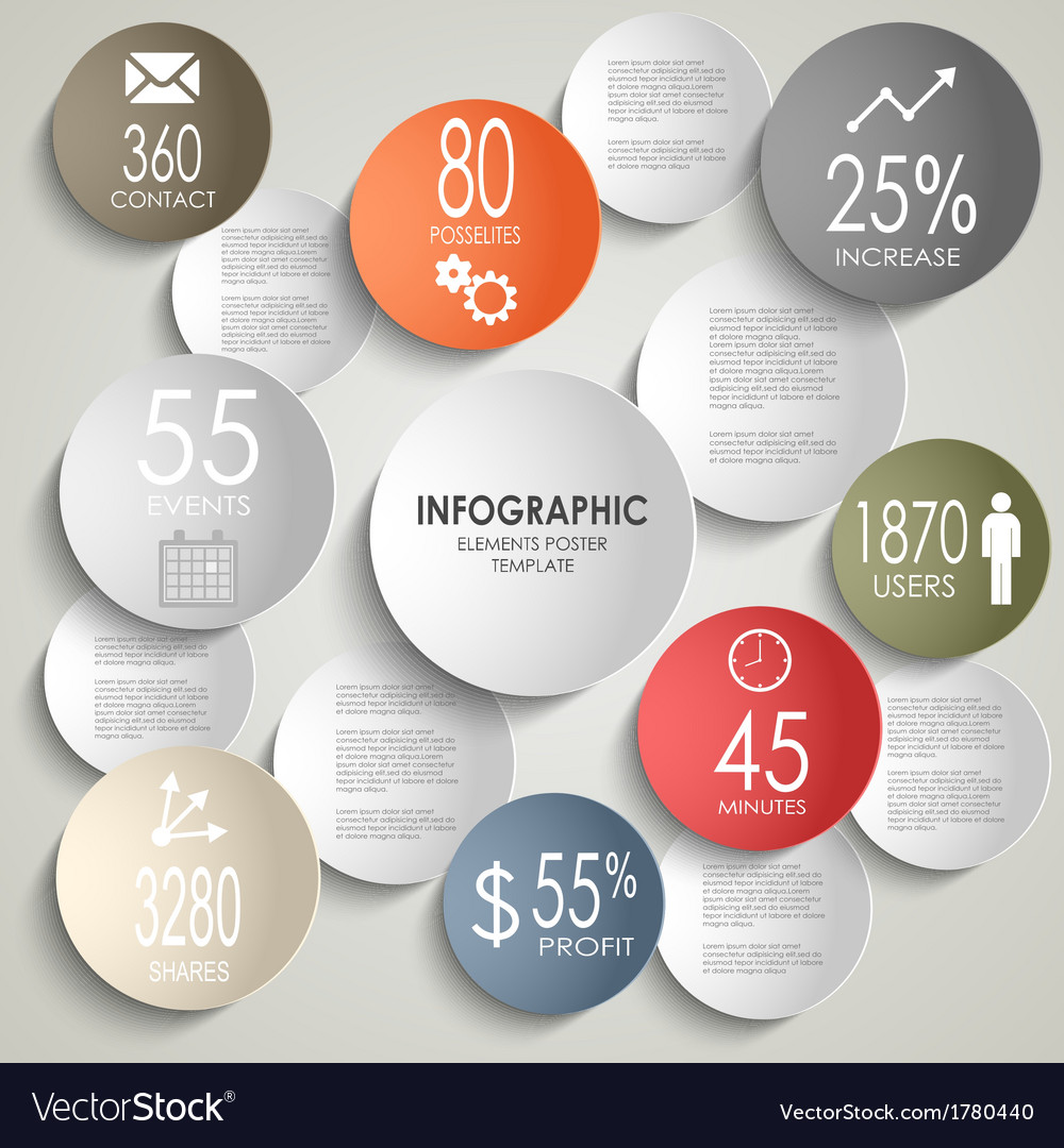 Abstract colored round info graphic business vector | Price: 1 Credit (USD $1)