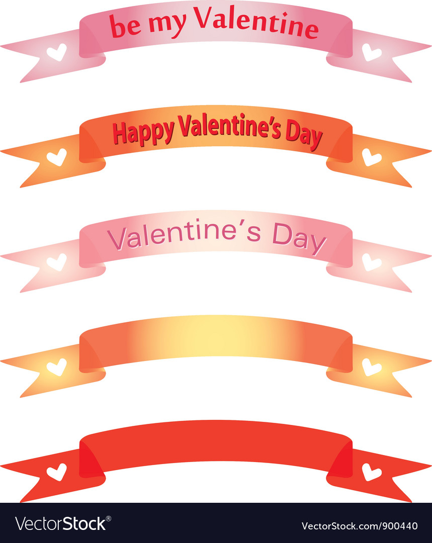 Banners for day of valentine vector | Price: 1 Credit (USD $1)