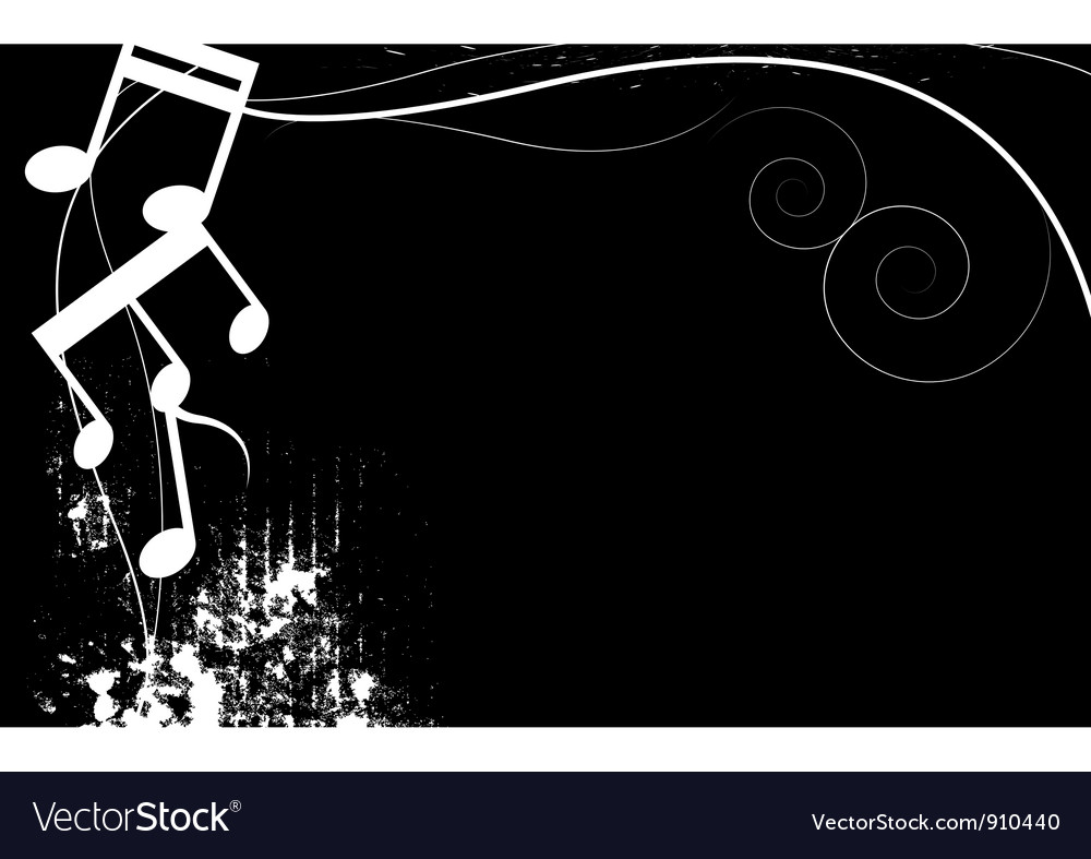 Black and white music grunge background vector | Price: 1 Credit (USD $1)