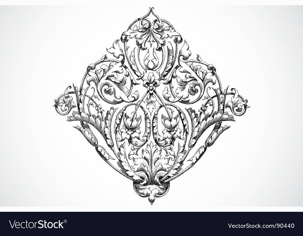 Bloom ornament vector | Price: 1 Credit (USD $1)