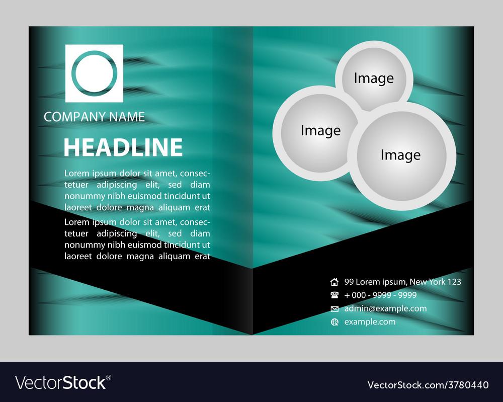 Blue brochure template design vector | Price: 1 Credit (USD $1)
