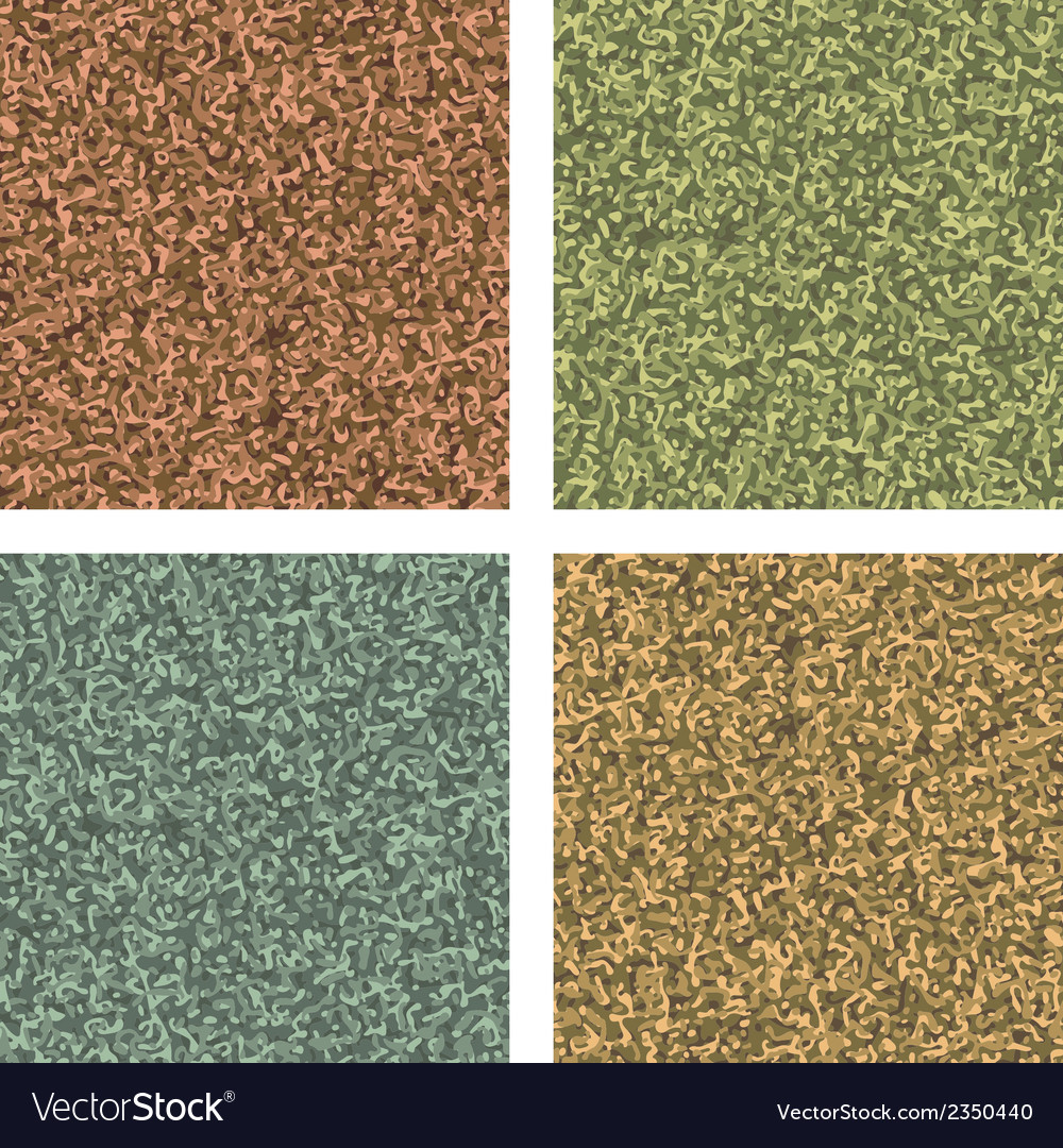 Classic camouflage pattern four colorways eps 8 vector | Price: 1 Credit (USD $1)