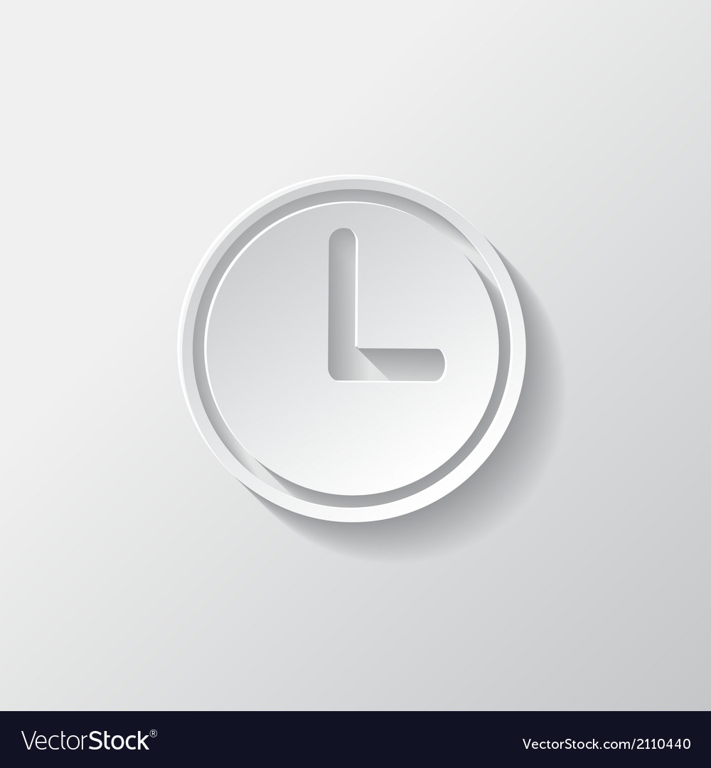 Clock web icon button time symbol vector | Price: 1 Credit (USD $1)