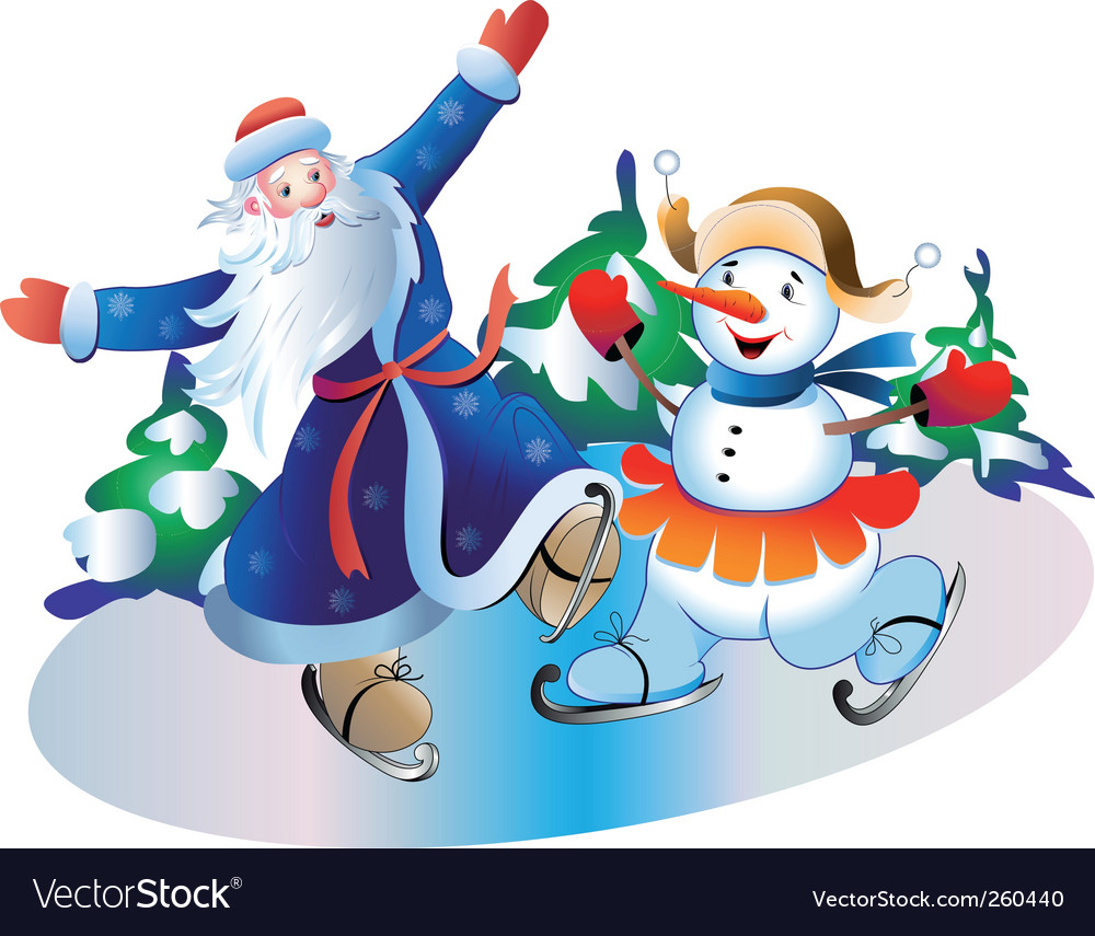 Father frost and snowball vector | Price: 3 Credit (USD $3)