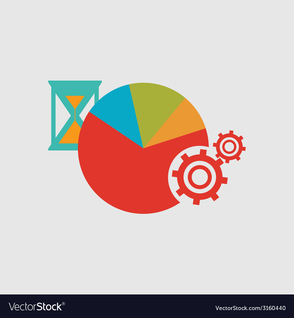 Hourglass diagram and gears internal mechanism vector | Price: 1 Credit (USD $1)