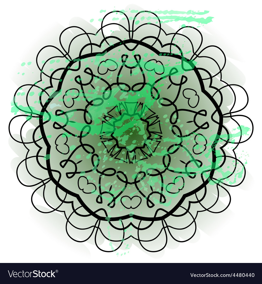 Oriental mandala motif what is karma vector | Price: 1 Credit (USD $1)