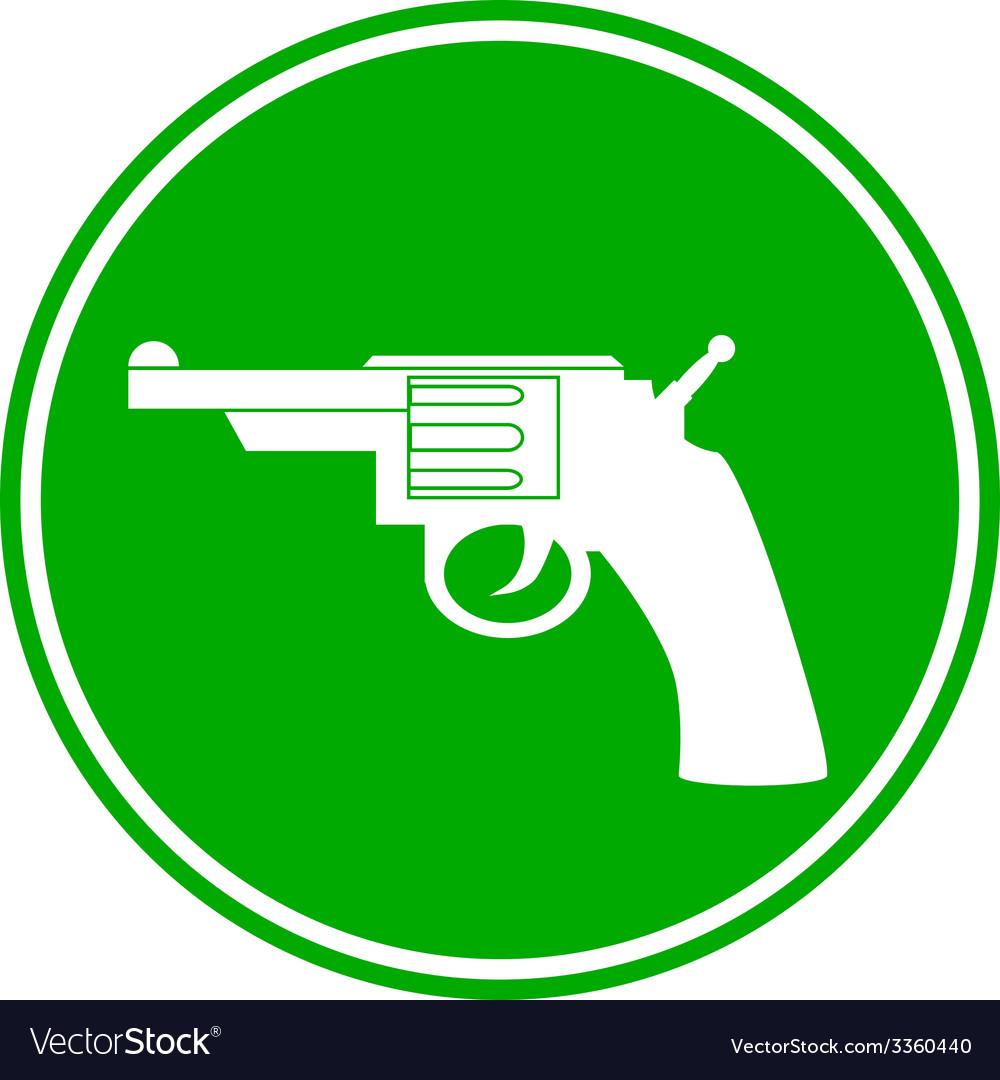 Revolver button vector | Price: 1 Credit (USD $1)